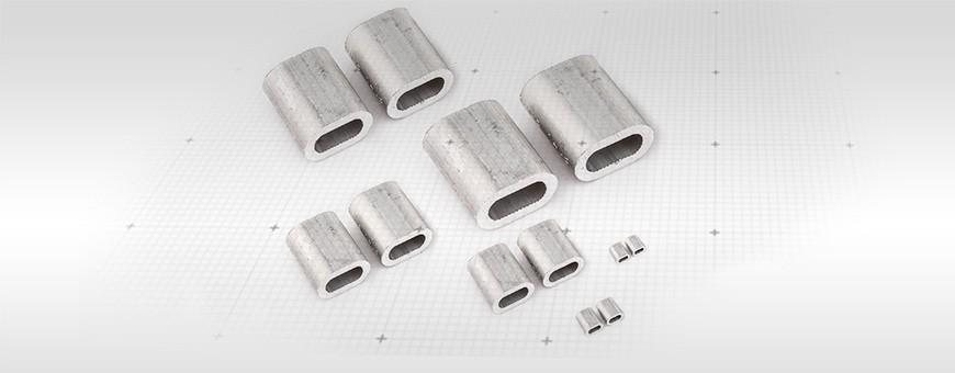 Alu Pressklemmen Größe: 1mm-12mm Ab 5 Stück Siehe auf Seiloo.de!