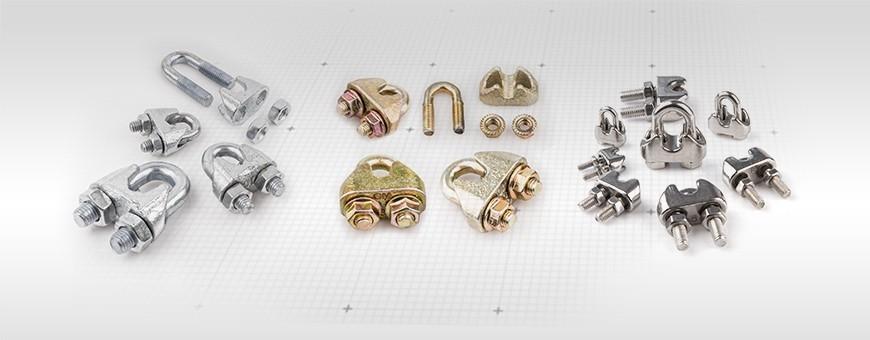 Bügel Drahtseilklemmen verschiedene Arten und Größe  Ab 1 bis 100 Stüc