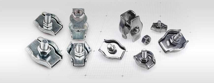 Simplex Drahtseilklemmen verzinkt für Drahtseil 2mm - 8mm Ab 5 Stück
