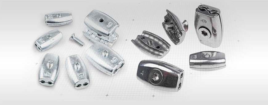 Drahtseilklemme Eiform – Aluminium für Drahtseil 2mm – 6mm Ab 5 Stück!