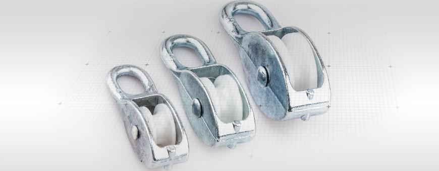 Seilrolle verzinkt Größe:15mm– 65mm Für Seil (max):6mm -16mm  Seiloo.d