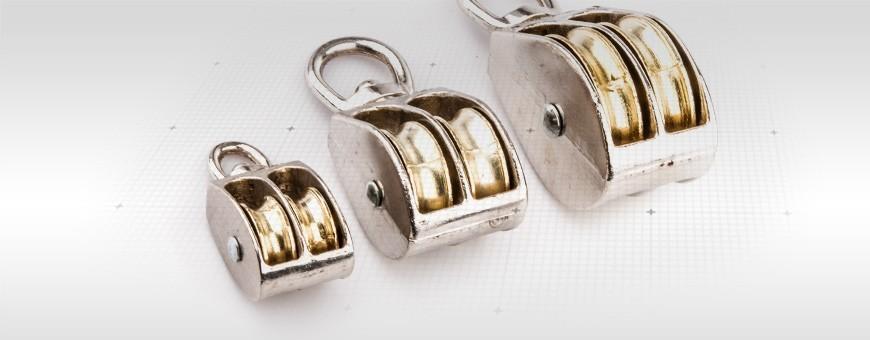Seilrolle Doppelt vernickelt Größe: 1/2 Zoll- 2 Zoll Hohe Qualität!