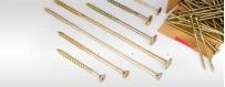 Konstruktionsschrauben: Tellerkopfschraube/ Senkkopfschraube für Holz