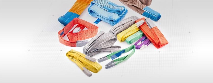 Hebebändern ohne oder mit Passende Schäkel 1-2 Stück WLL(t): 1t – 10t
